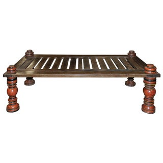 Upcycled Indian Wooden Coffee Table For Sale