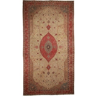 "Palace Size Antique Turkish Rug - 12'4"" X 22'10"" For Sale"
