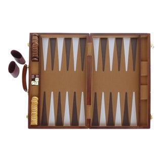 Vintage Backgammon in Wooden Case For Sale