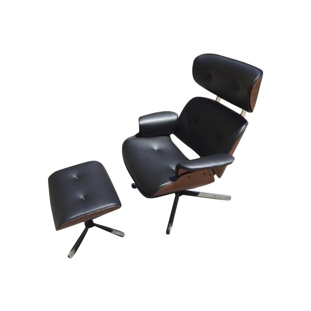 Fully Restored Plycraft Eames Lounge With Ottoman - Image 1 of 9