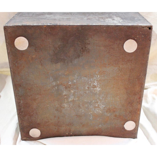 Antique Tea Bin/Side Table For Sale - Image 11 of 13