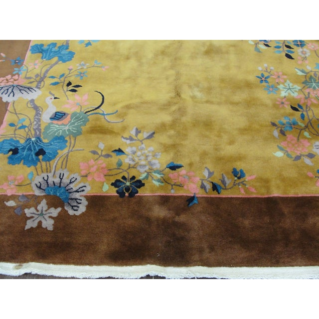 "Textile Chinese Art Deco Rug-5'10"" X 8'5"" For Sale - Image 7 of 9"