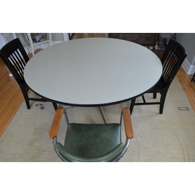 Mid-Century Oversized Round Dining Table - Image 7 of 8