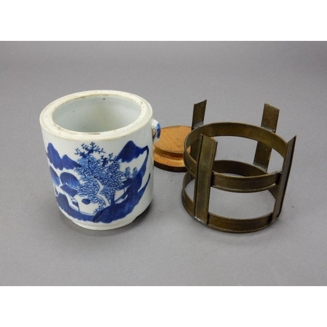 Blue Antique Chinese Blue & White Tea/Tobacco Jar For Sale - Image 8 of 11