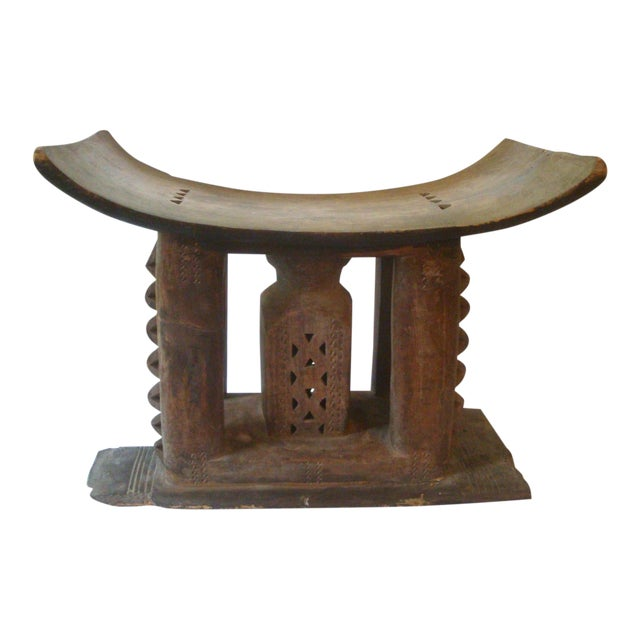 Antique African Carved Ashanti Asante Stool For Sale
