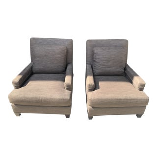 Contemporary Oversized Upholstered Lounge Chairs by Barbara Barry for Baker Furniture - a Pair For Sale