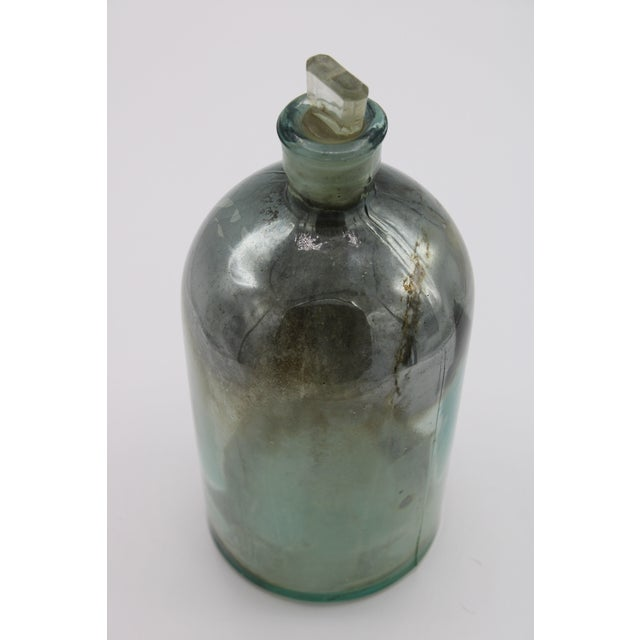 Antique Mercury Glass Apothecary Bottle With Stopper For Sale - Image 11 of 13
