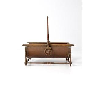 Antique Copper Log Basket Preview