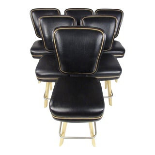 Set of Six Modern Swivel Stools for Trump Plaza For Sale