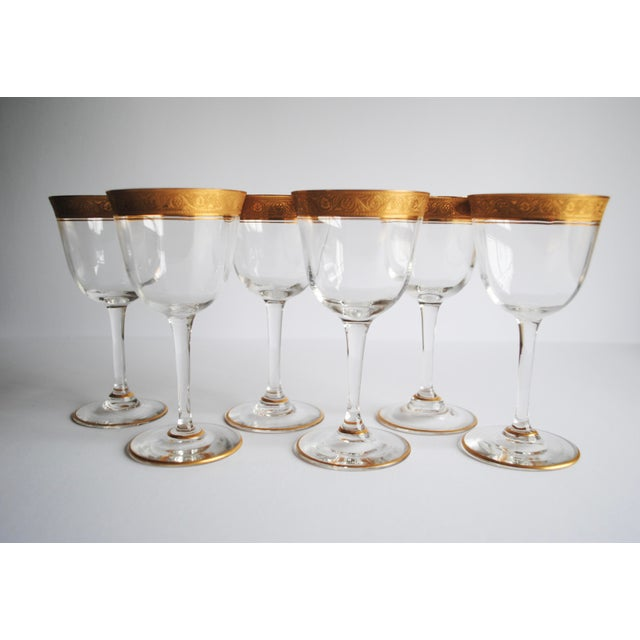 Gold Encrusted Cocktail Glasses - Set of 6 - Image 4 of 4