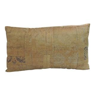 Antique Textile Japanese Silk Kesa Lumbar Decorative Pillow