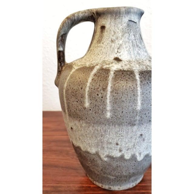 Stone Gray Gray E S Keramik Lava Glaze Jug Vase For Sale - Image 8 of 10