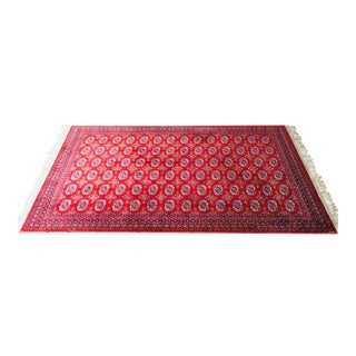 Karastan Deep Red Bokhara Design Area Rug - 6' x 9'