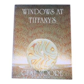 """Book - White Linen Cover - Rare """"Windows at Tiffany's"""" Book For Sale"""