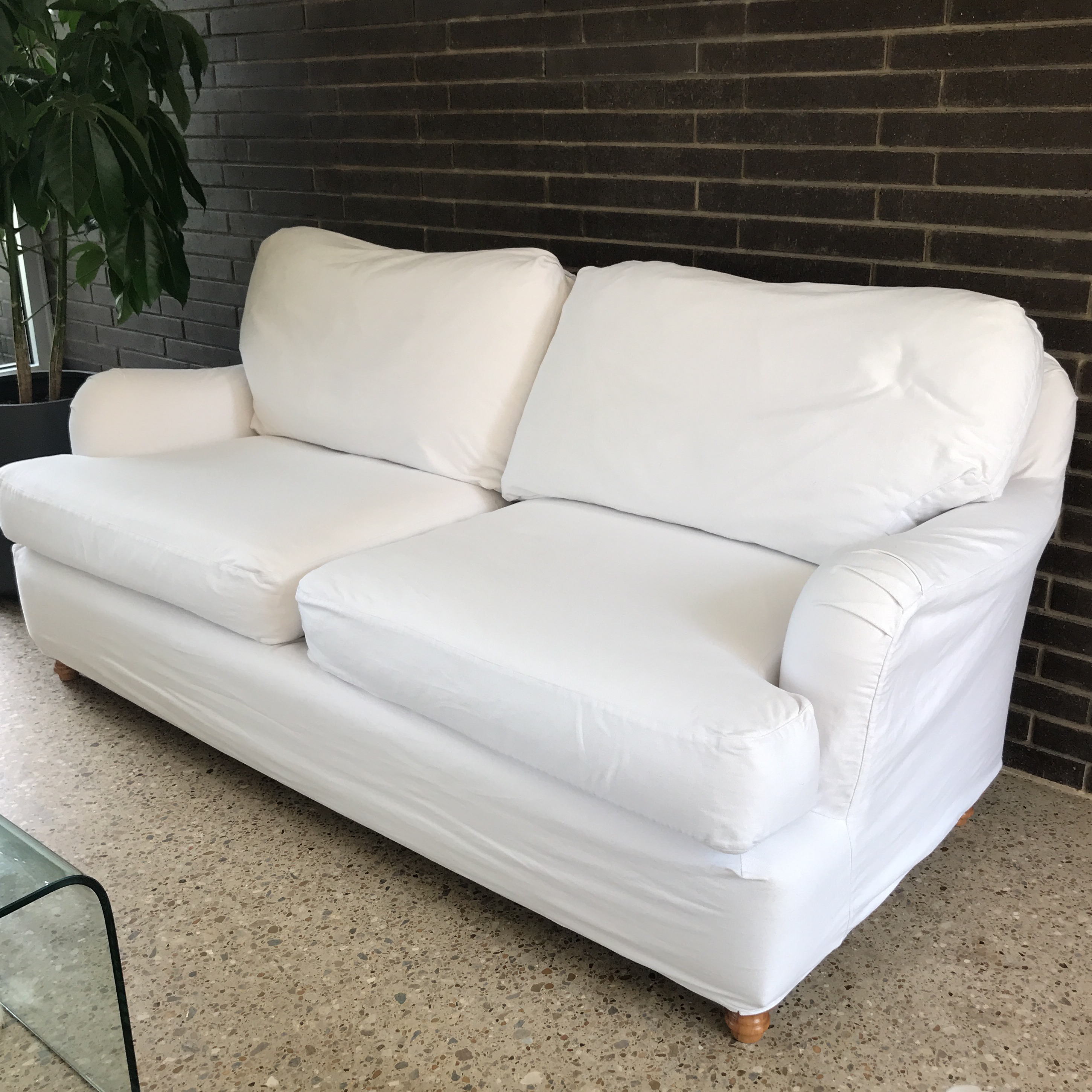 This Is A Vintage Quatrine Milan Sofa With A Removable Machine Washable  Cover. This Piece