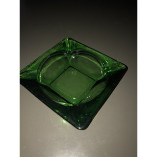 Vintage Green Glass Ashtray Preview