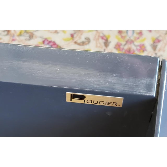 Contemporary 2 Canadian Rougier Streamlined Contemporary Lacquered Table Cabinets For Sale - Image 3 of 12