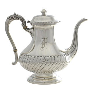 1950s Sterling Silver Coffee Pot For Sale
