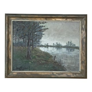 Framed Oil Painting on Canvas by Dan Nottebaert For Sale
