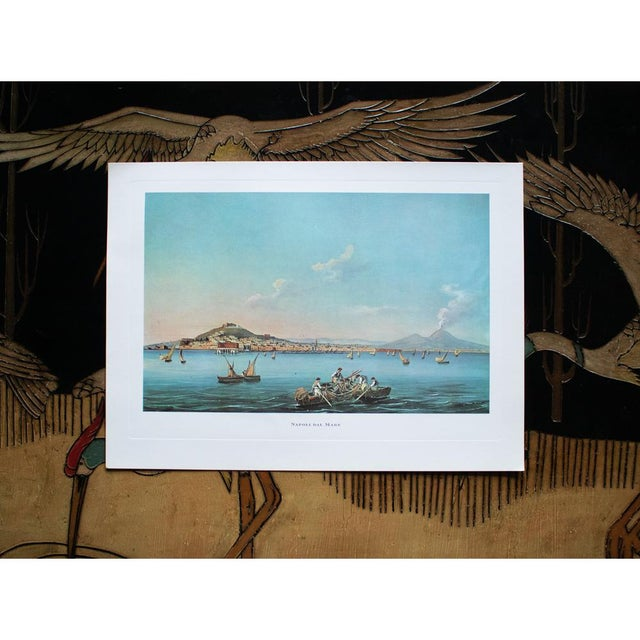 "1960s 1964 ""Naples From the Sea"", Original Lithograph For Sale - Image 5 of 8"