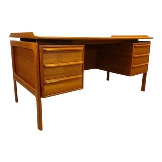 G. Gasvig Mid-Century Danish Modern Teak Double Sided Executive Desk For Sale