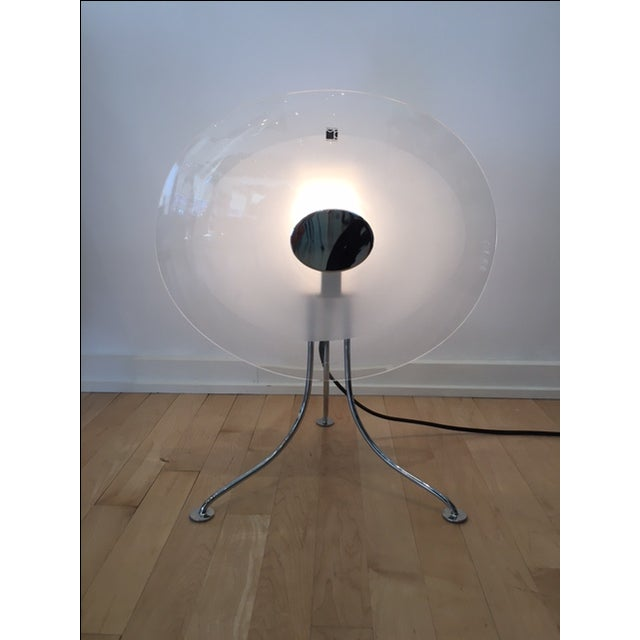 Beautiful Scudo table lamp purchase new and used as a floor sample. Design by Rosa Romano for Carlo Moretti. Made in...