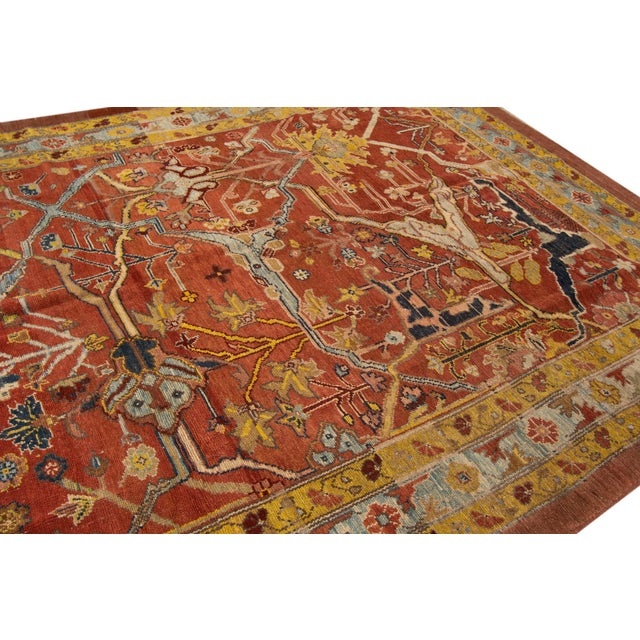 "Vintage Persian Tribal Bakshaish Rug, 7'4"" X 9'4"" For Sale - Image 10 of 11"