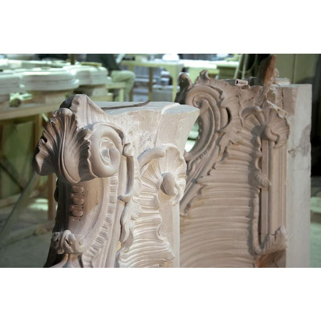 Stone French Baroque Style Modern Mantel For Sale - Image 7 of 10