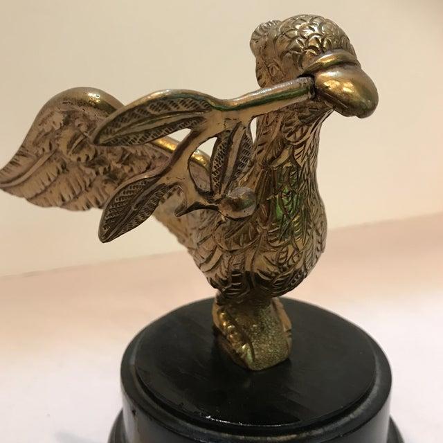 1950s Art Deco Brass Decorative Bird Figurine For Sale In Miami - Image 6 of 8