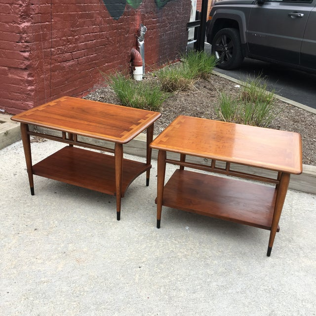 Lane Acclaim Dovetail Side Tables - A Pair - Image 2 of 6