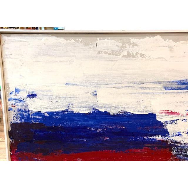 Large Mid Century Abstract Painting - Bright Landscape, Signed Boden For Sale In New York - Image 6 of 10