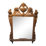 Image of 19th Century French Louis XVI Style Gilt Wood Mirror For Sale