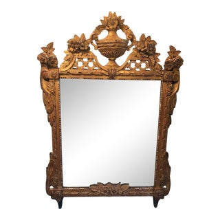 19th Century French Louis XVI Style Gilt Wood Mirror For Sale