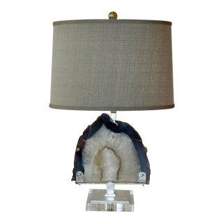 Brazilian Agate Table Lamp For Sale