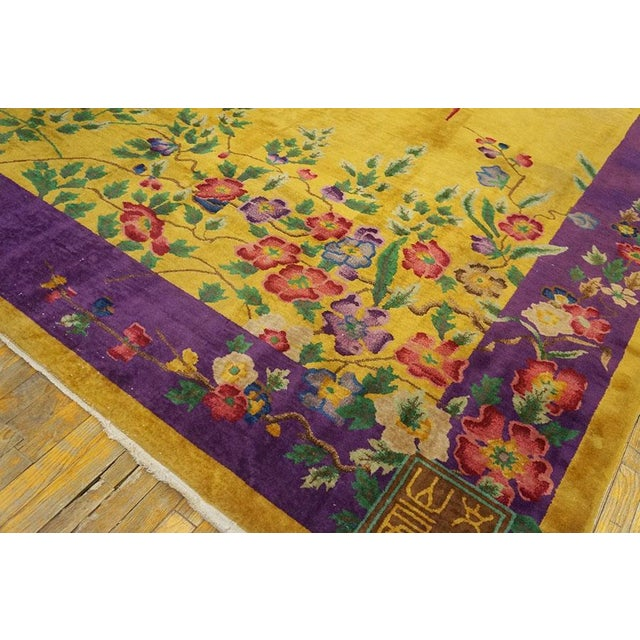 """Antique Chinese Art Deco Rug 8'9"""" X 11'4"""" For Sale In New York - Image 6 of 7"""