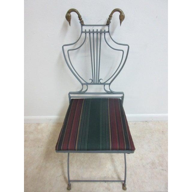 Vintage Lyre Harp Regency Side Chair For Sale - Image 4 of 11