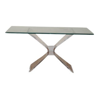 1960s Lucite Console Table For Sale