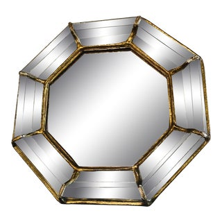 Antique Octagonal Wall Mirror For Sale