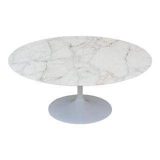 "Mid-Century Modern Eero Saarinen for Knoll 36"" Round Marble Coffee Table 1956 For Sale"