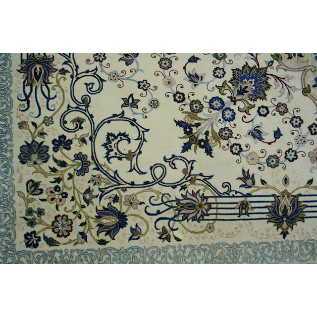 "Traditional Vintage Wool & Silk Persian Isfahan Rug - 3'11"" x 5'7"" For Sale - Image 3 of 6"