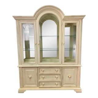 Vintage Stanley Furniture Water's Edge China Cabinet For Sale