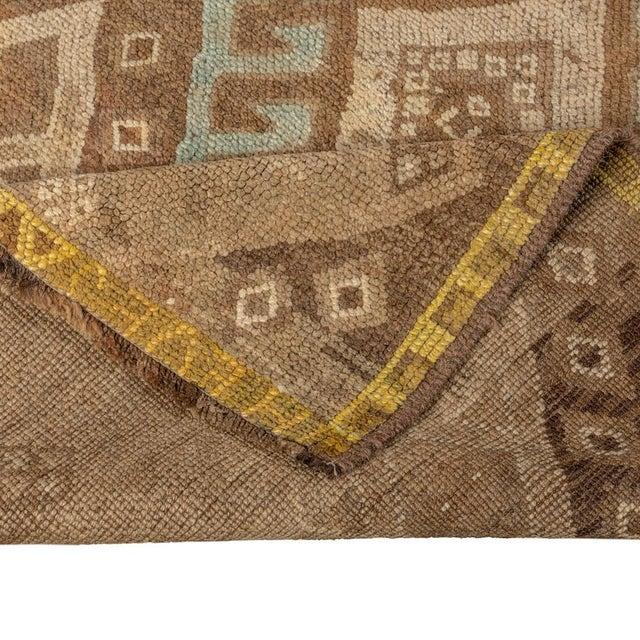 Vintage Brown Turkish Runner Rug 3'x10' For Sale - Image 4 of 5
