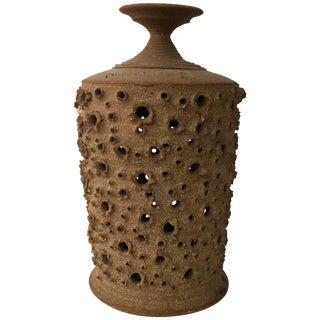 1960s John Masson Brutalist Studio Pottery Pendant Light Shade For Sale