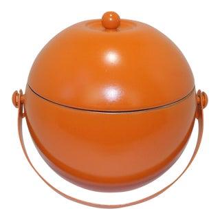 Mid Century Modern Orange Ice Bucket