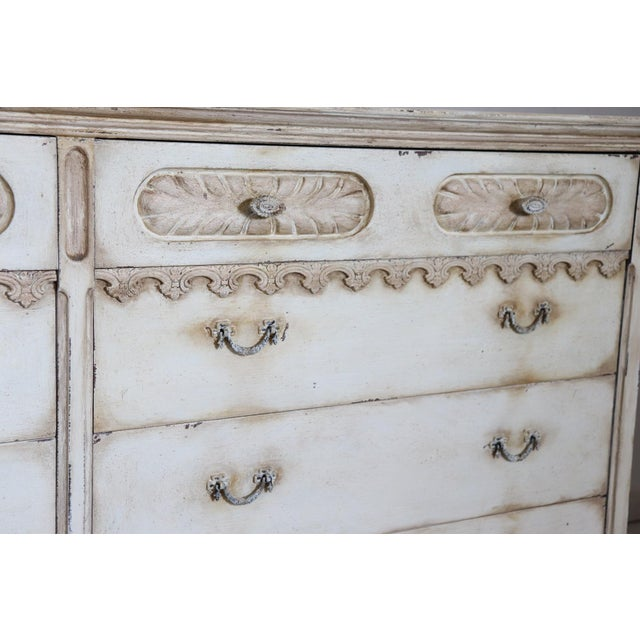 Wood 20th Century Italian Country Lacquered Commode and Two Nightstand For Sale - Image 7 of 13