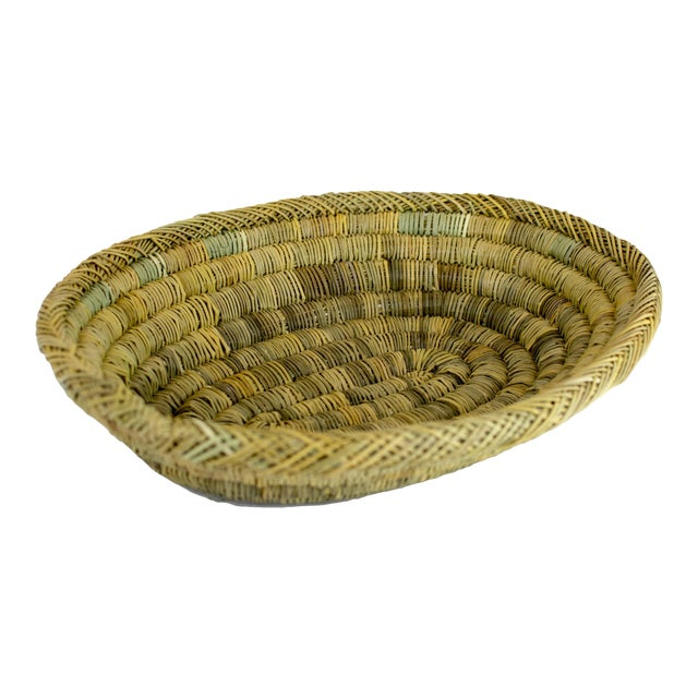 Handmade Rustic Moroccan Oval Bread & Fruit Basket For Sale