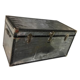 Vintage Mossman Polished Metal Trunk & Black Trim