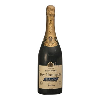 """1940s French Large Scale Replica Bottle of """"Dry Monopole"""" Champagne For Sale"""