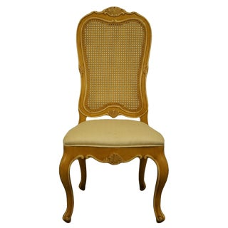 Henredon Furniture Louis XVI French Provincial Cane Back Dining Side Chair For Sale