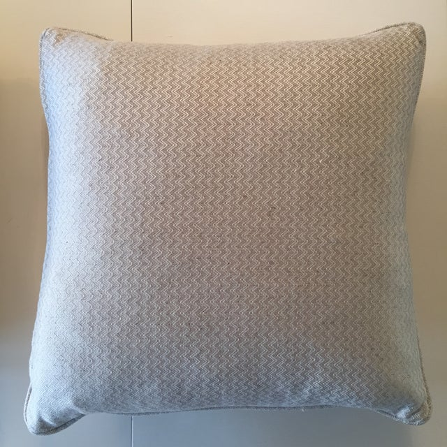 Nobilis Chevron Patterned Pillows - A Pair - Image 5 of 8